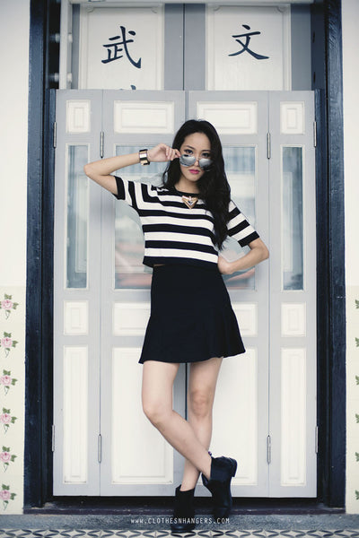Stylenanda Stripe Knitted Top