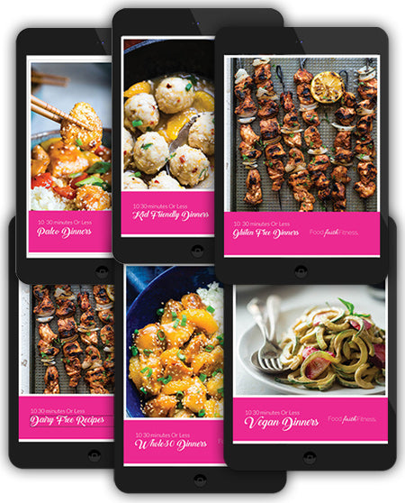All 6 Ten 30 Minute or Less Recipe eBooks