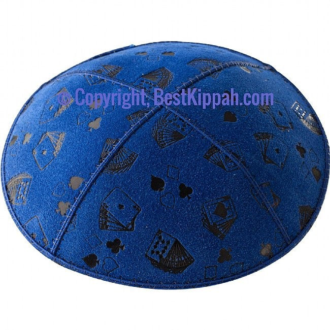 D36 - PLAYING CARDS EMBOSSING (kippah)