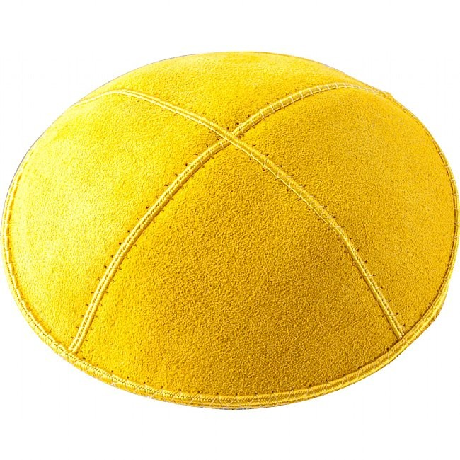 A48 - YELLOW SUEDE KIPPAH