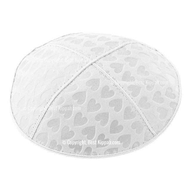 C42 - HEARTS EMBOSSING KIPPAH