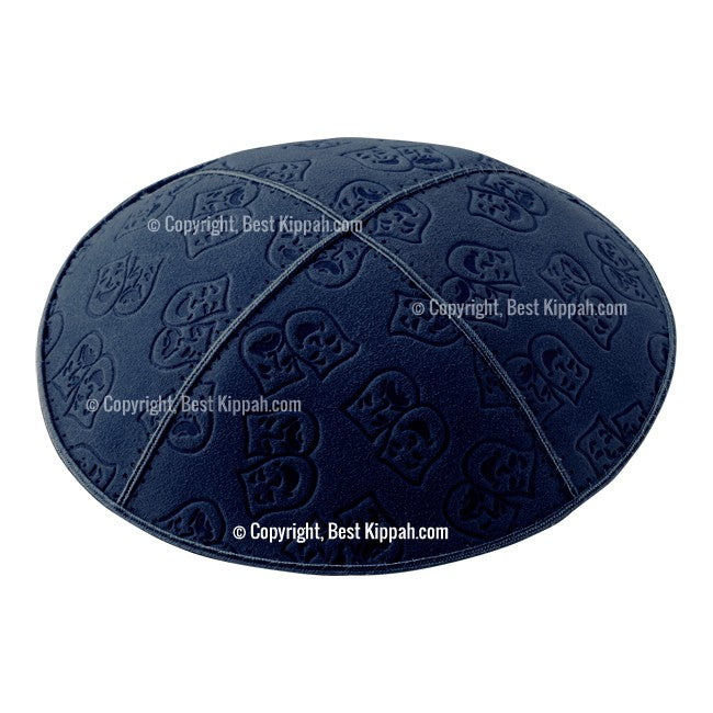 C45 - THEATRE MASKS EMBOSSING KIPPAH