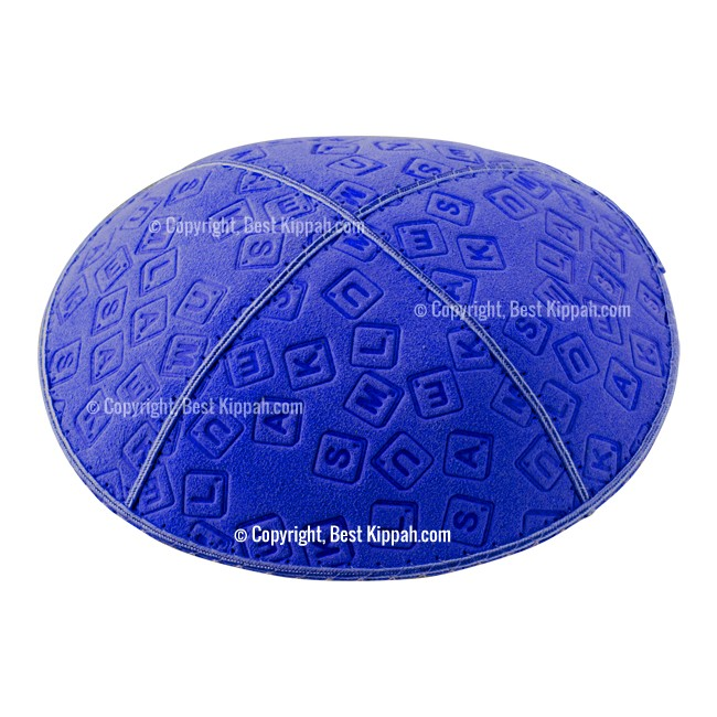 C44 - SCRABBLE EMBOSSING KIPPAH
