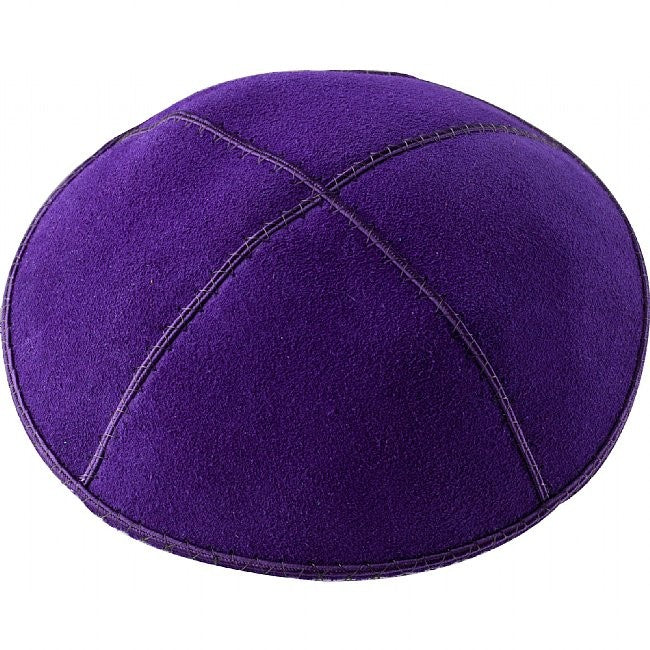 A21 - PURPLE SUEDE KIPPAH