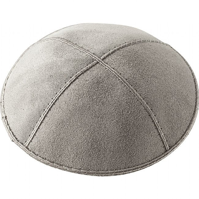 A26 - MEDIUM GREY SUEDE KIPPAH