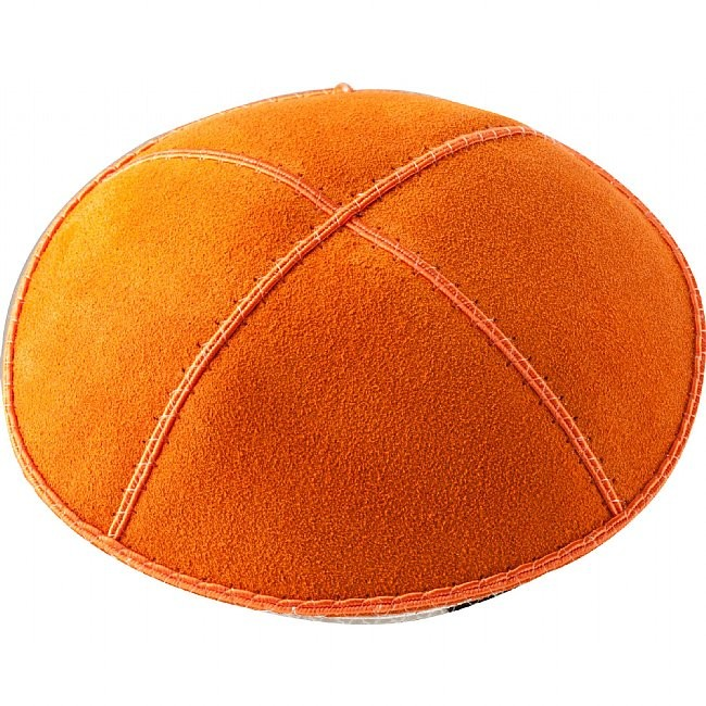 A43 - ORANGE SUEDE KIPPAH