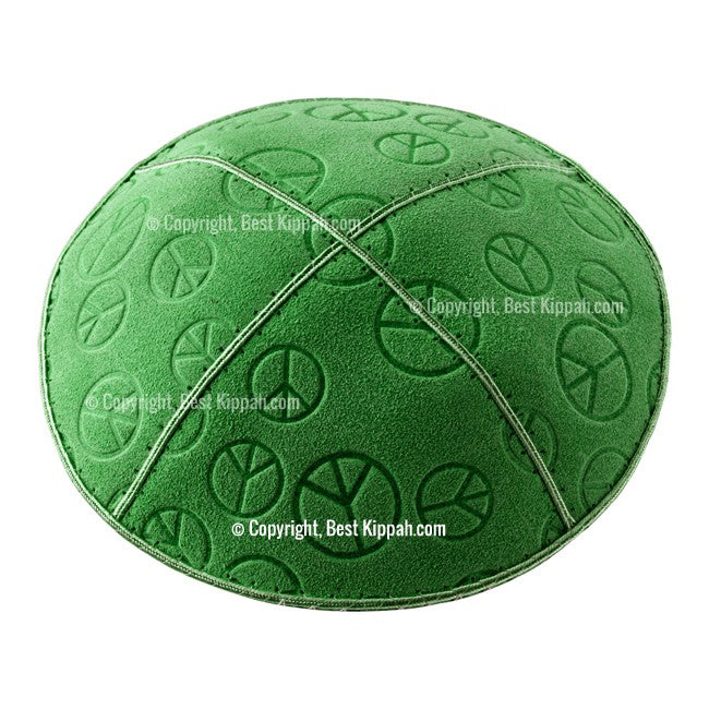 C81 - PEACE SIGN EMBOSSING KIPPAH