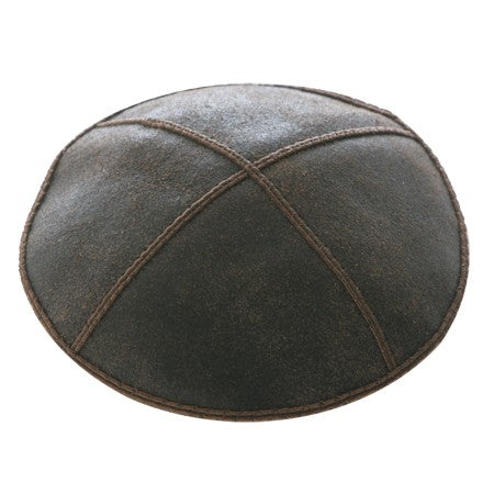 DISTRESSED LEATHER KIPPAH