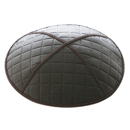 EMBOSSED QUILTING LEATHER KIPPAH