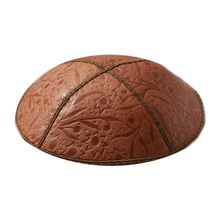 LUGGAGE LEATHER W/ EMBOSSING KIPPAH
