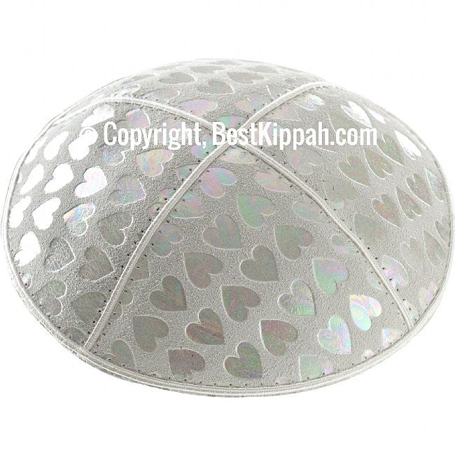 D42 - METALLIC HEARTS EMBOSSING (Kippah)