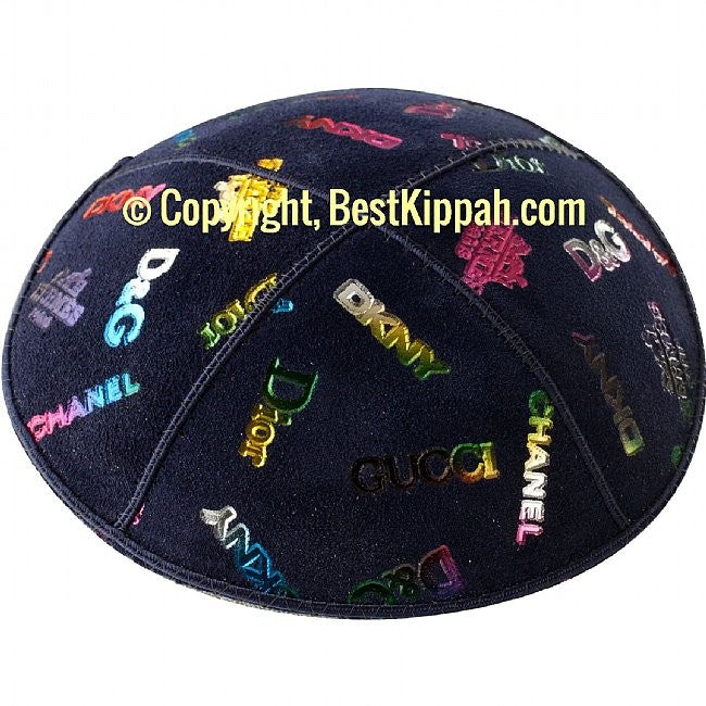D46 - METALLIC DESIGNER'S ROW EMBOSSING (Kippah)