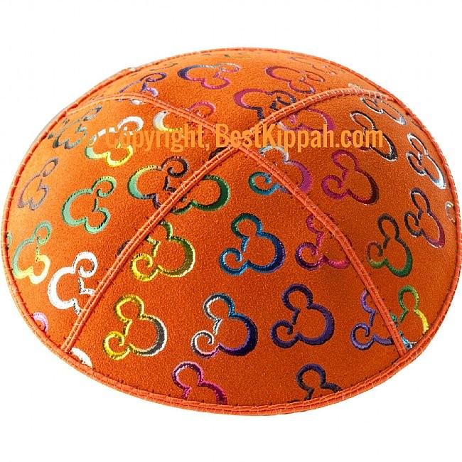 D47 - METALLIC MICKEY MOUSE EMBOSSING (Kippah)
