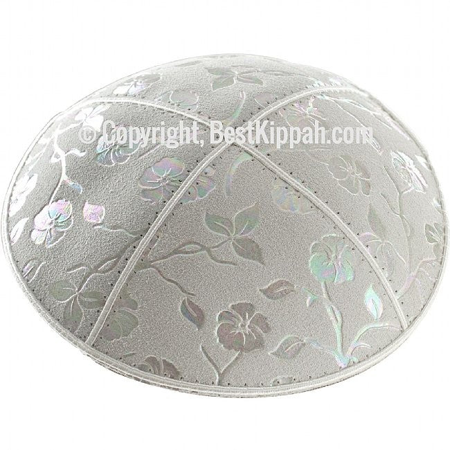 D53 - METALLIC FLOWERS EMBOSSING (Kippah)