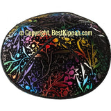 D54 - METALLIC LEAVES EMBOSSING (Kippah)