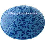 D87 - METALLIC MUSICAL NOTES EMBOSSING (Kippah)