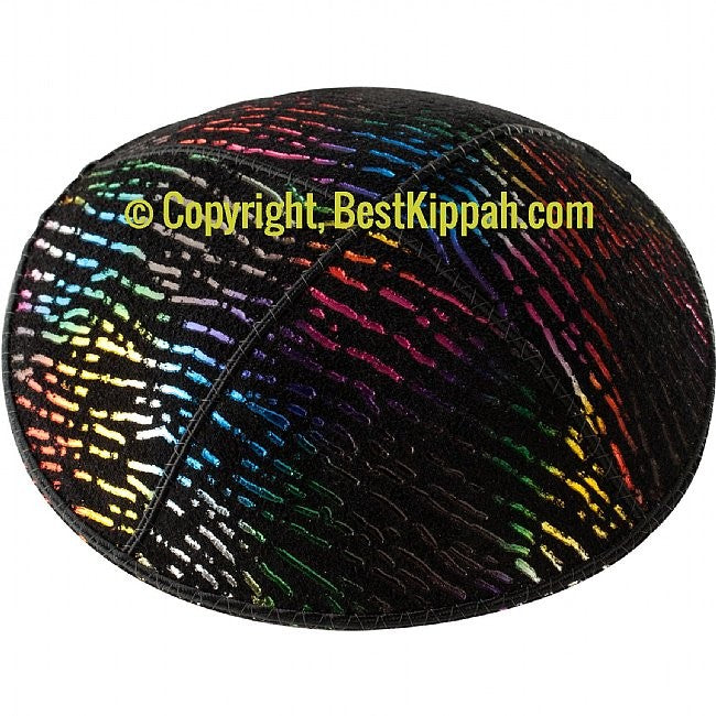 D89 - METALLIC DOTTED LINES EMBOSSING (Kippah)