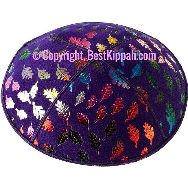 D99 - METALLIC FALL LEAVES EMBOSSING (Kippah)