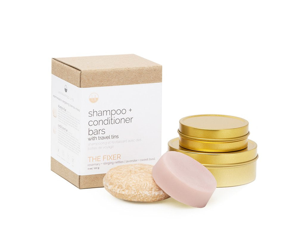 Unwrapped Life - Shampoo and Conditioner Bars with Tins