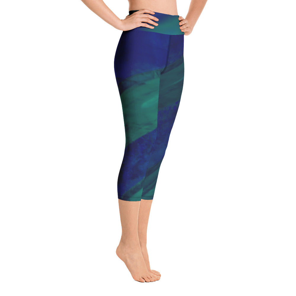 Angler River Traders Emerald Archway Yoga Capri Leggings - angler-river-traders