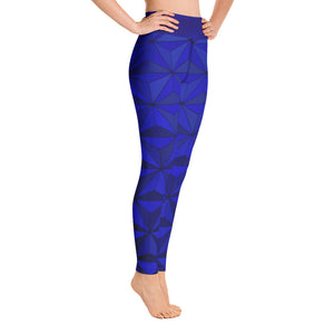 Angler River Traders Blue Diamond Yoga Leggings - angler-river-traders