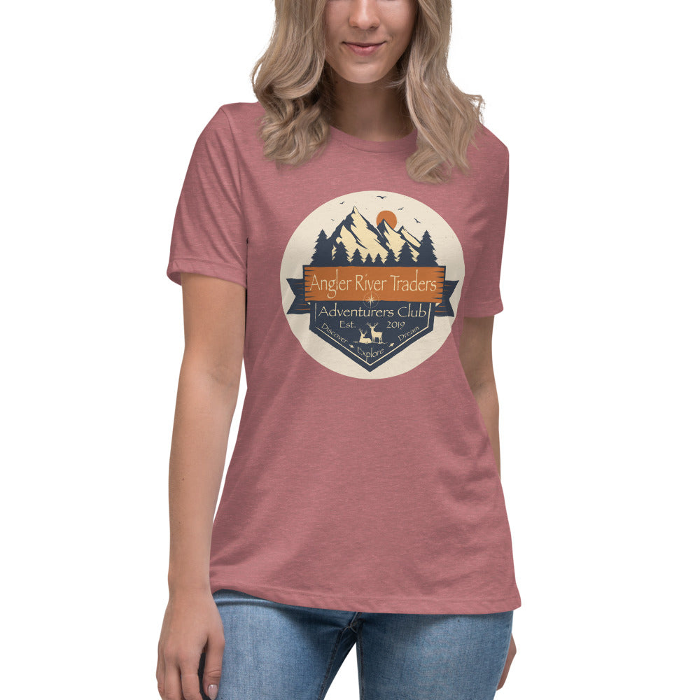 Angler River Traders Compass Women's Relaxed T-Shirt - angler-river-traders