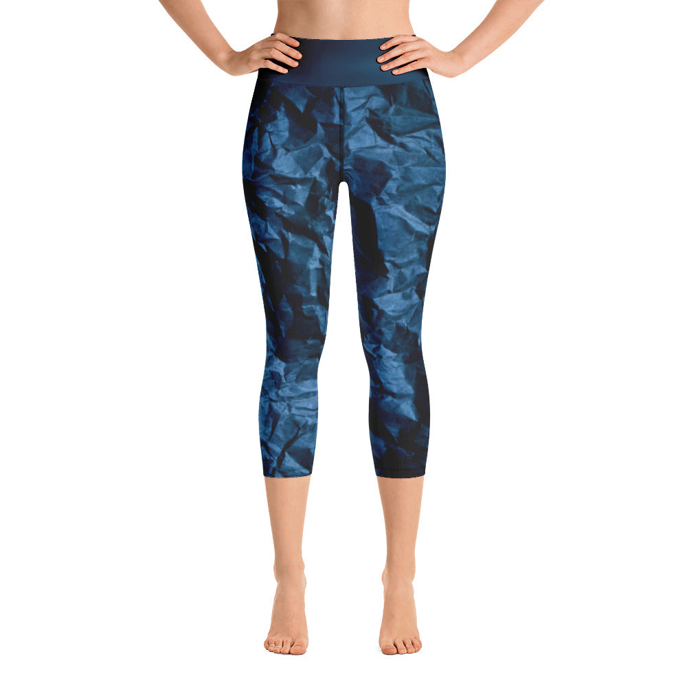 Angler River Traders Paper Waves Yoga Capri Leggings - angler-river-traders
