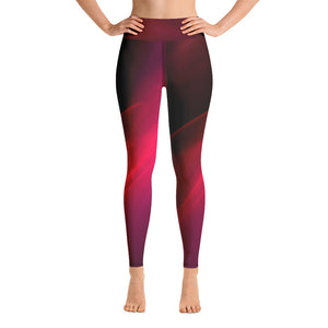 Angler River Traders Red Splash Yoga Leggings - angler-river-traders
