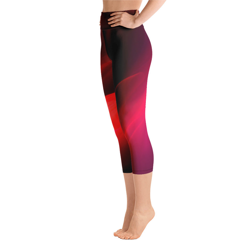 Angler River Traders Red Splash Yoga Capri Leggings - angler-river-traders