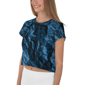 Angler River Traders Paper Waves Crop Tee - angler-river-traders