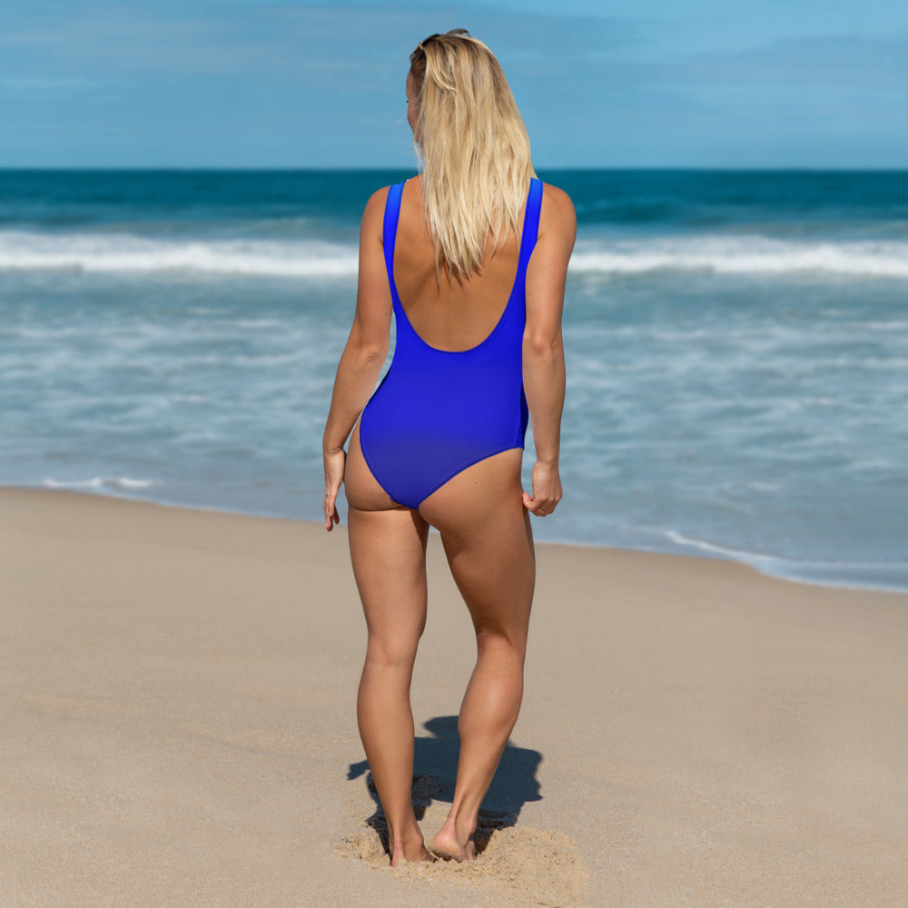 Angler River Traders Blue Waves One-Piece Swimsuit - angler-river-traders