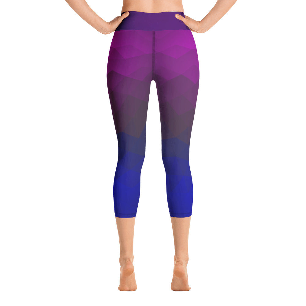 Angler River Traders Geometric Yoga Capri Leggings - angler-river-traders