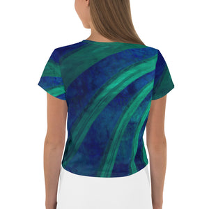 Angler River Traders Emerald Archway Crop Tee - angler-river-traders