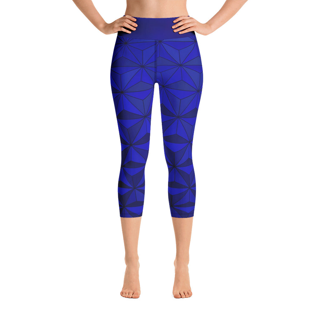 Angler River Traders Blue Diamond Yoga Capri Leggings - angler-river-traders