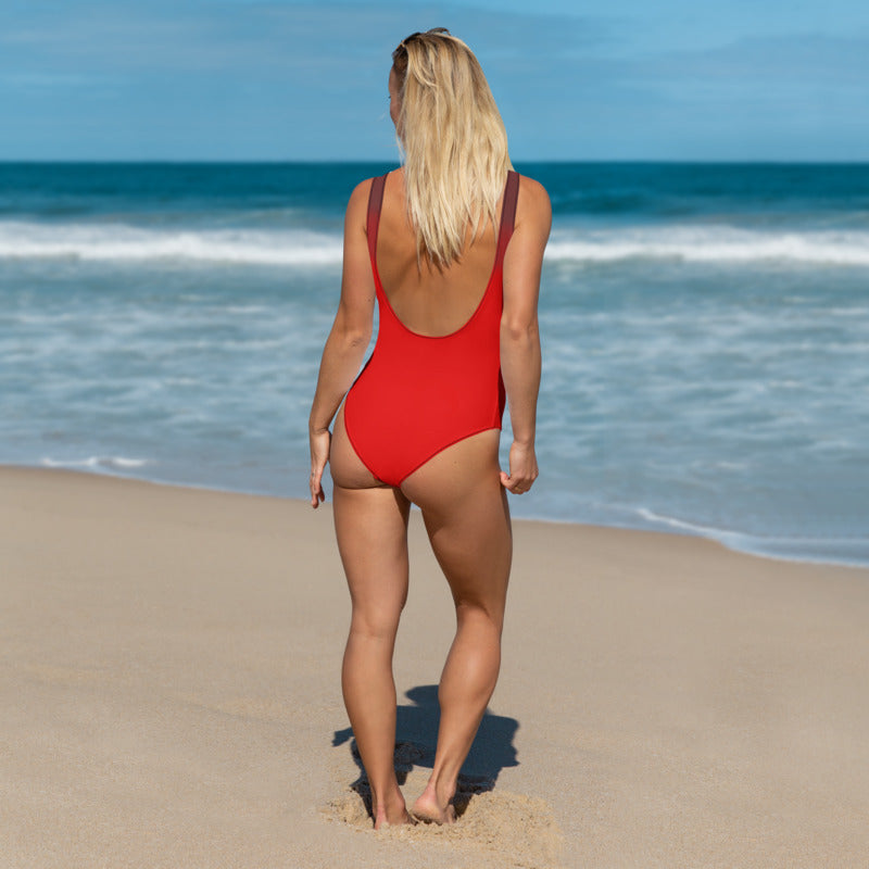Angler River Traders Red One-Piece Swimsuit - angler-river-traders