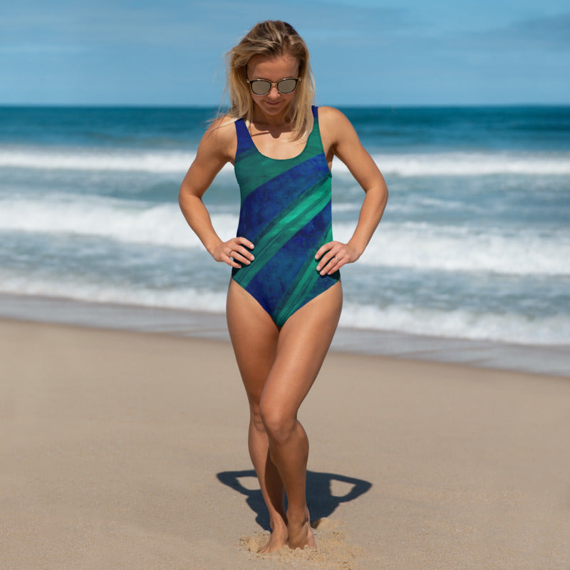 Angler River Traders Emerald Archway One-Piece Swimsuit - angler-river-traders