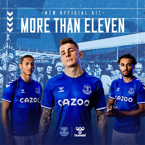 Hummel X Everton F.C. 20/21 home kit