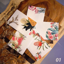 5 Greeting Cards, Australian native flowers