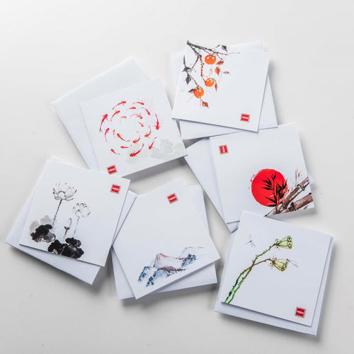6 Zen Greeting Cards- Exclusive Designs