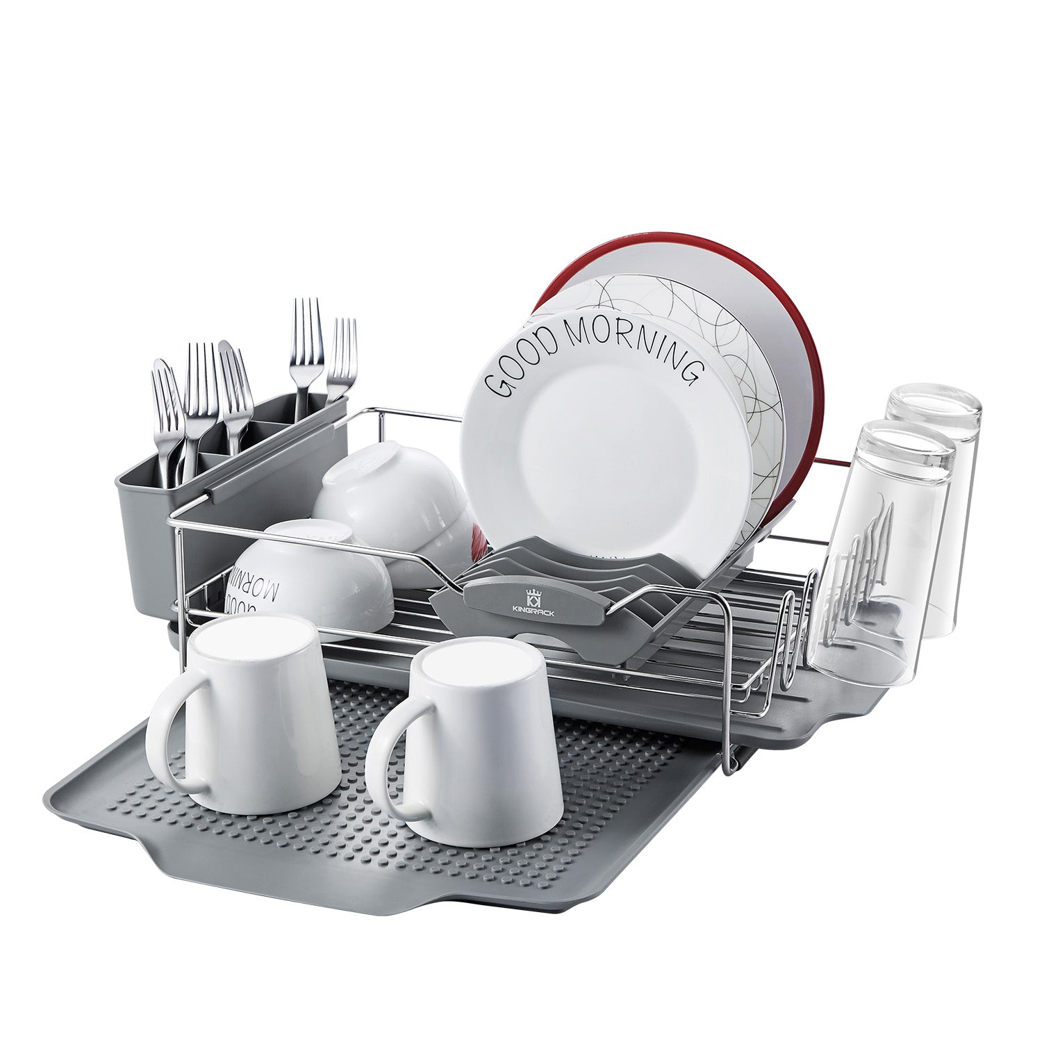 Stainless Steel Dish Drying Rack with Expandable Over Sink Dish Rack  wk112054