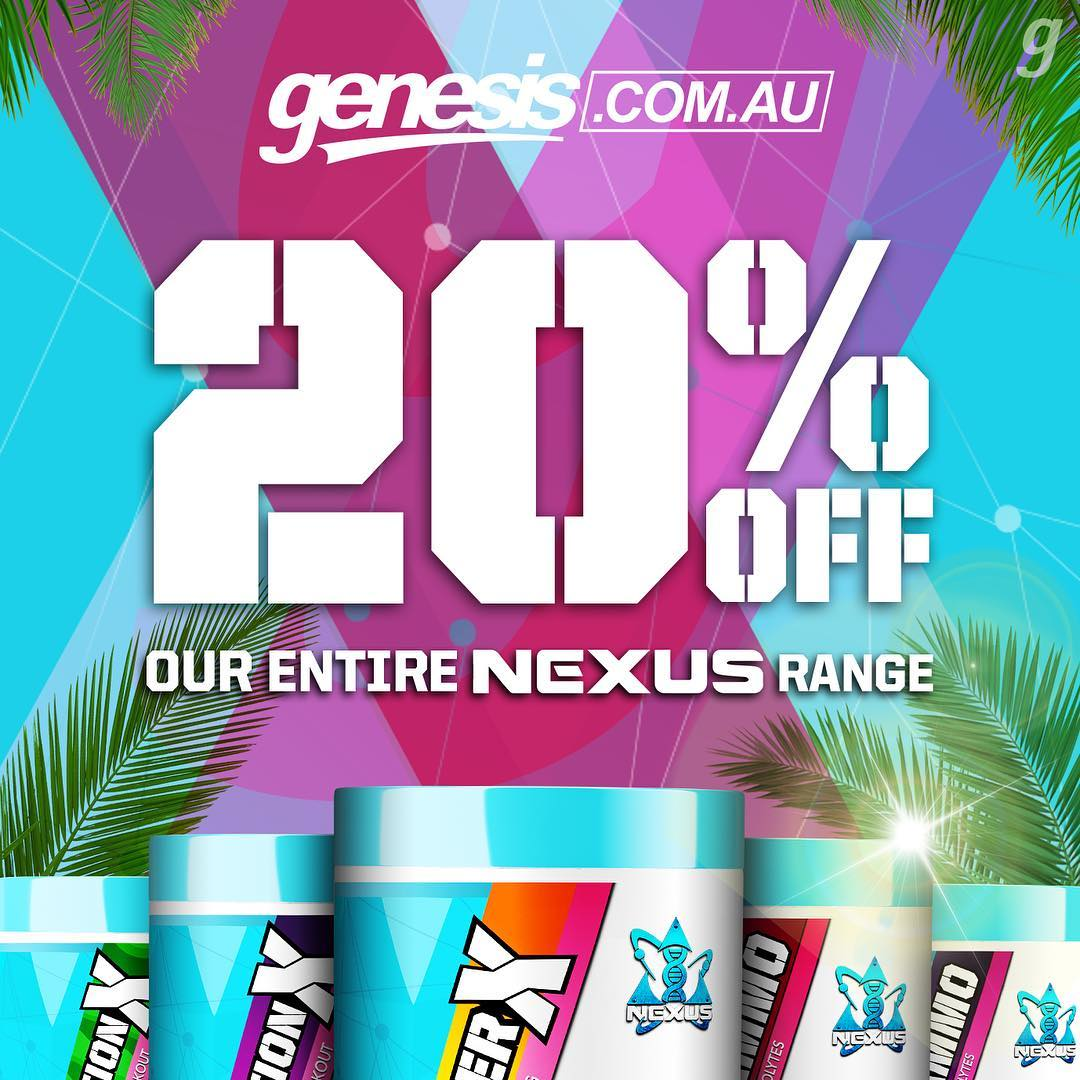 20% OFF Our Entire Nexus Range!
