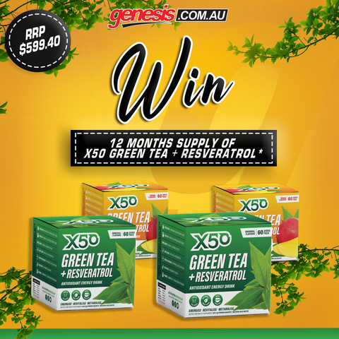 Win a years supply of Green Tea X50