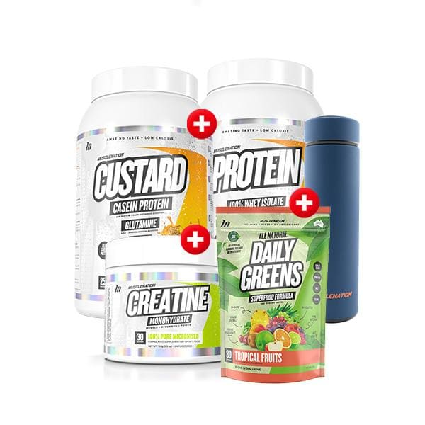 Custard + Protein + Daily Greens + Creatine + Free Steel