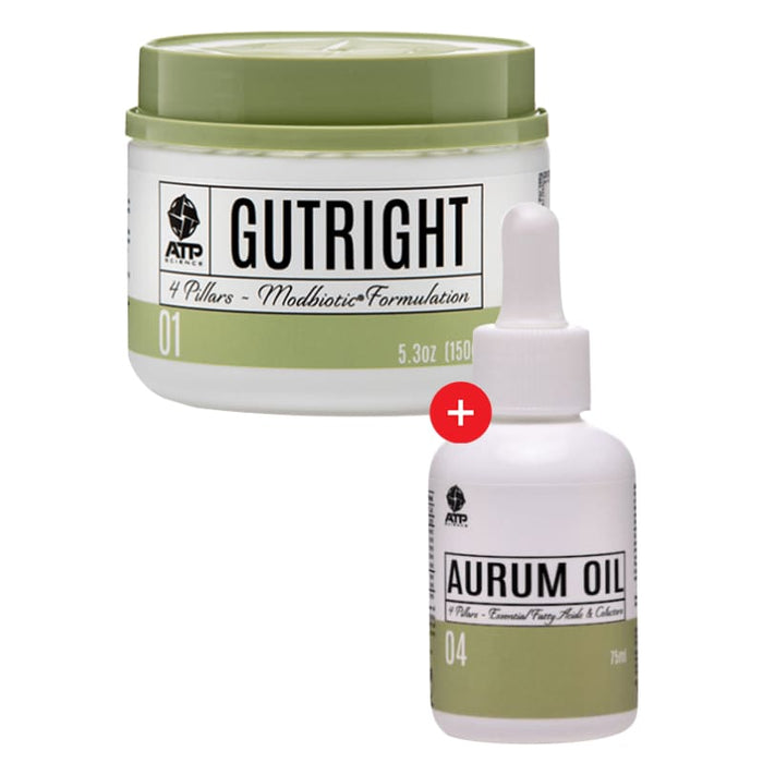 Gutright + Aurum Oil by ATP Science! Genesis SUPPLEMENT PACK 643485990918 643485990918