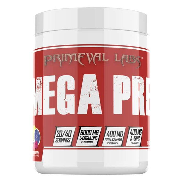 Mega Pre Red by Primeval Labs | Pre Workout | Genesis Primeval Labs PRE WORKOUT