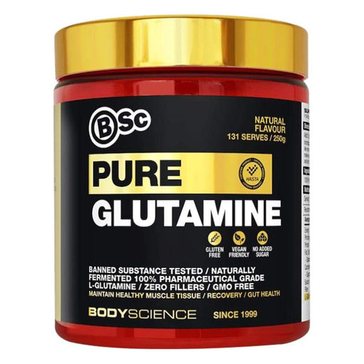 0.25KG - (133 Serves) / Natural BSC Pure Micronised Glutamine - BodyScience Body Science AMINO ACID - GLUTAMINE POS-124795 9330171022114