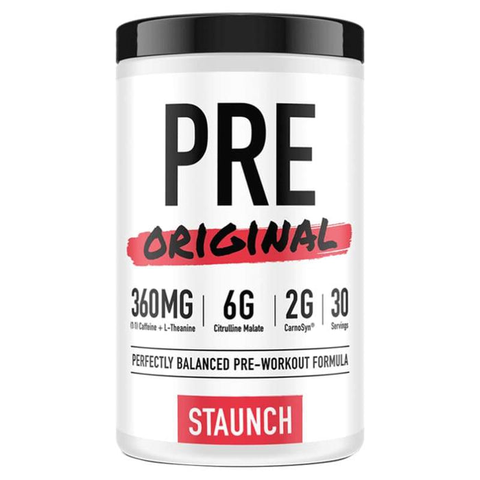 Pre Original by Staunch Series | Daily Use Pre-Workout Staunch CLEARANCE