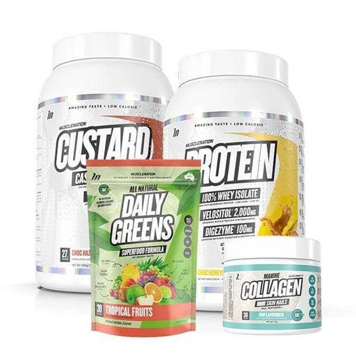 Protein + Custard + Collagen + Daily Greens by Muscle Nation