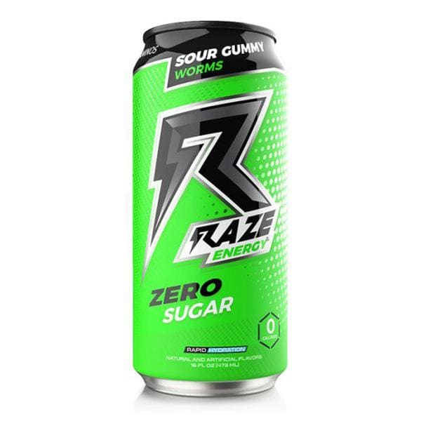 Raze Energy by REPP Sports - Single / Sour Gummy Worms -