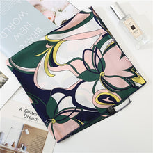 Load image into Gallery viewer, 2019 new spring summer silk scarves 50*50cm